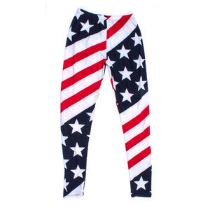 Pants - Patriotic American Flag Stretch Pants/Leggings